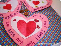 Scratch-off Valentines!  Metallic acrylic paint, dishsoap, foam brush, contact paper, glitter