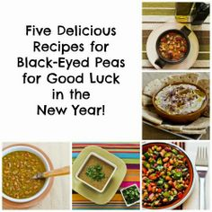 Five Delicious Recipes for Black-Eyed Peas for Good Luck in the New Year! [from Kalyn's Kitchen] #HealthyNewYear