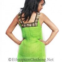 Modern Habesha Kemis $ 49 Material: colored menen (cotton) with tibeb/pattern.