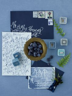 Dusty Blue & Blush C