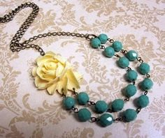 turquoise & yellow jewels, just waiting for a dress.