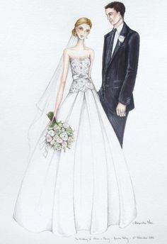 The beautiful Hunter Valley wedding of Alison and Murray alexandra nea, fashion draw, fashion illustr