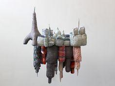 Emilie Faif's fabric sculptures .