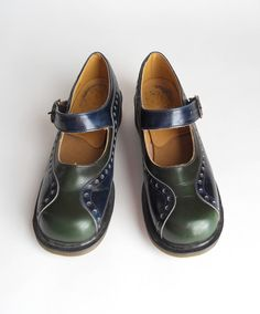 doc martens mary janes - two tone oxfords in blue and green!