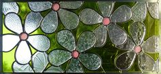 Stained Glass Daisy Panel. $205.00, via Etsy-love the simplicity.