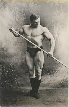 George Hackenschmidt née Georg Karl Julius Hackenschmidt (August 1, 1877-February 19, 1968) once considered the strongest man in the world, he was an early 20th century strongman, professional wrestler, writer, and philosopher. He was the first free-style heavyweight champion of the world.