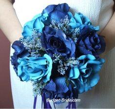 Bridal Bouquet winter wedding flowers, bridal bouquets, blue flowers, wedding bouquets, blue wedding flowers, blue weddings, blue bouquets, winter weddings, blue roses