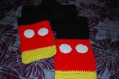 Crocheted Mickey Mouse Inspired Scarf. $28.00, via Etsy.