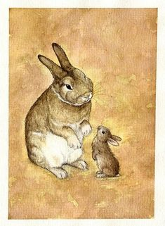 big bunny and small bunny by ~moussee on deviantART