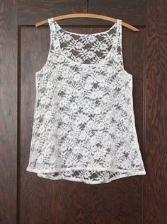 lace tank top tutorial
