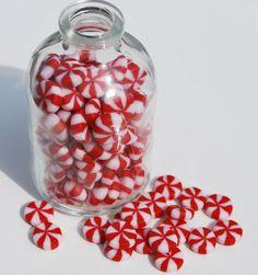 #cernit polymer clay christmas mints
