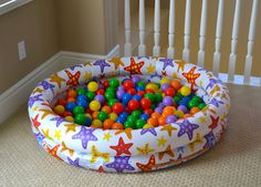 Make this fun #mini #inflatable #ball #pit!