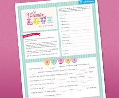 Free Valentine Mad Lib Printable