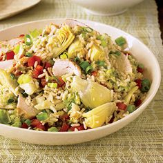 Rice, Chicken & Artichoke Salad