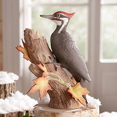 LENOX Figurines: Birds - 2014 Christmas Pileated Woodpecker