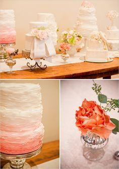 peach wedding cakes
