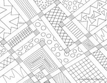 abstract full-sized coloring pages! doodles of all shapes and sizes, including letters and numbers.