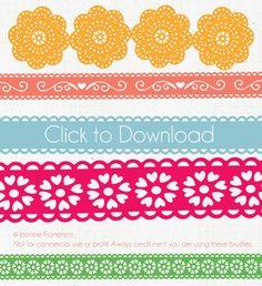 Lace Illustrator Brush free download