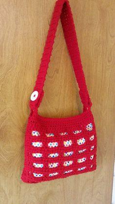 #Crochet Handbag Purse with lining #TUTORIAL