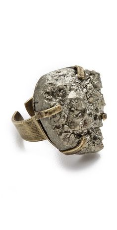 (Limited Supply) Click Image Above: Citrine By The Stones Pyrite Ring