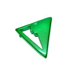 Vintage Brooch Green Abstract Face Triangle Pin by hensfeathers, $16.00