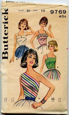 1960s Blouse Pattern Butterick 9769 Vintage by GreyDogVintage, $16.00