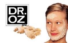 Dr.Oz Ginger Scrub Recipe: Antioxidant Exfoliator. Find more Dr. Oz Tips Here:http://pinlavie.com/?s=Dr.Oz