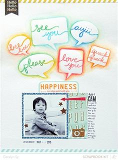 Happiness by gsy, as seen in the Club CK Idea Galleries. #scrapbook #scrapbooking #creatingkeepsakes