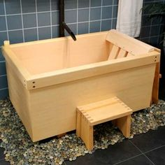 A Japanese Ofuro Tub by Sea Otter Woodworks  in Alaska.  $5280  custom made  marketplace.apartmenttherapy.com/daily_finds/sea-otter-tubs