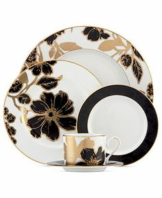 Lenox Dinnerware, Minstrel Gold Collection - Fine China - Dining & Entertaining - Macy's