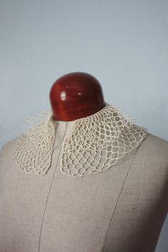 vintage 40s crochet collar