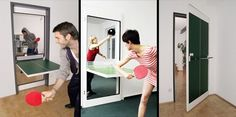 A Door That Turns into a Ping-Pong Table | 36 Things You Obviously Need In Your New Home