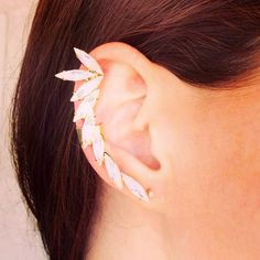 The Ava  Handmade Crystal Ear Cuff by MoCoLaJewelry on Etsy, $60.00