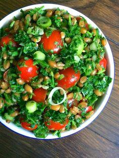 food, vegan salads