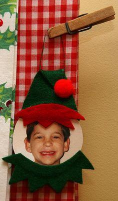 DIY Elf Childrens Ornament.