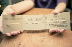 'Tie the knot'  Save the Date.  pinned just because I thought it was too cute not to. :)