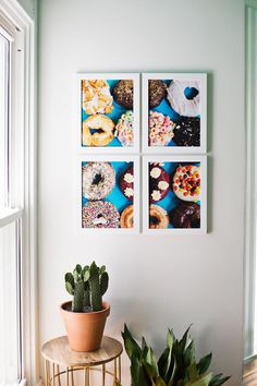 Large-scale art made affordable (just divide by four!). #DIY #art