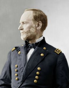 William Tecumseh Sherman Colorized Civil War Photos - Armchair General and HistoryNet The Best Forums in History l Colorization by 'Zuzah'@ http://www.civilwartalk.com/forums/colorized-period-photographs.139/ via http://thecivilwarparlor.tumblr.com/
