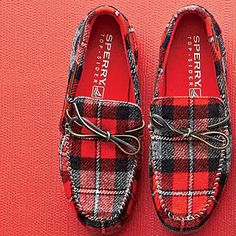 Plaid Houseshoes, $80 | Sperry Top-Sider