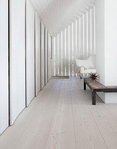 Beautiful wood flooring #white #wood