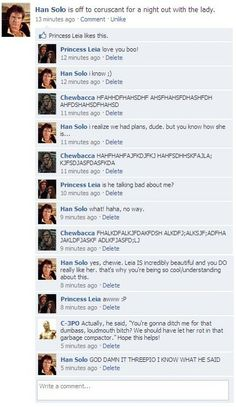 Han Solo Facebook - Star Wars Funny