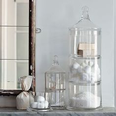 Stacking apothecary jars - from West Elm.