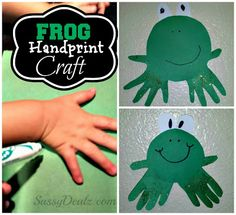 DIY: Cheap Handprint Frog Craft For Kids | SassyDealz.com