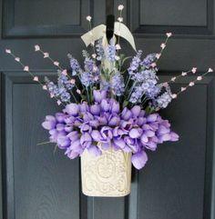 Spring Tulip Door Decoration