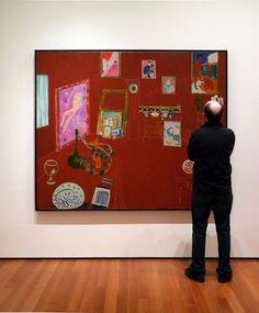 Matisse Red Studio with Viewer by profzucker, via Flickr