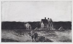 """American Landscape"", 1920, Edward Hopper."
