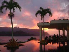 An incredible sunset shot from the St. Regis Princeville Hotel, Kauai, Hawaii