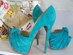 hot shoes, fashion, blue suede shoes, color, heel