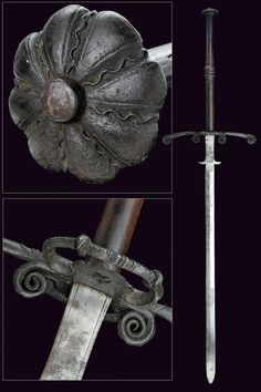 A double-handed sword,  			                			  			   			                              						  			dating:  			   			  			circa 1600