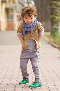 Little boy has awesome style.